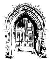 Ancient Parish Church Arch Doorway Architecture vector