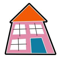 Child Like Little Pink House Graphic vector