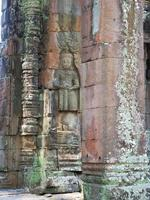 Stone carving at Banteay Kdei in Siem Reap, Cambodia photo