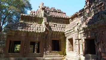 Stone ruin at Banteay Kdei in Siem Reap, Cambodia photo