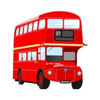 British Red Double Decker London City Bus vector