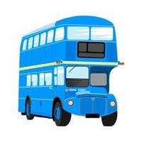 British Blue Double Decker London City Bus vector