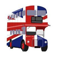 Union Jack British Double Decker London City Bus vector