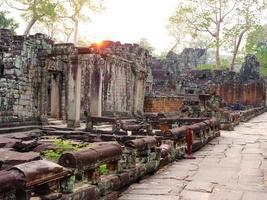 stone architecture sunset at Preah Khan photo
