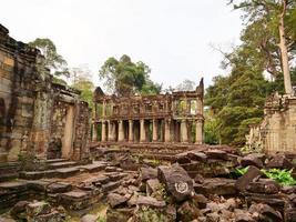 Preah Khan temple Angkor Wat complex, Siem Reap Cambodia photo