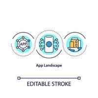 App landscape concept icon vector