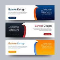 plantilla de web de banner de diseño abstracto de vector