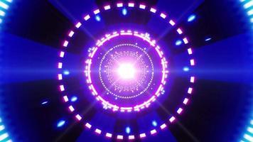 checker mönster neonblått ljus vj tunnel video