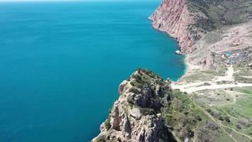 Aerial view from cape Balaklavsky , Crimea. video