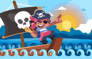 Sail of Pirates Boy vector