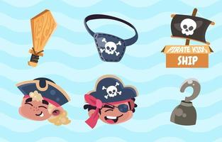 Pirates Kids Icon Pack vector