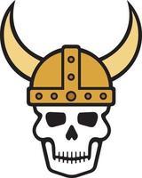 Viking Skull and Helmet vector