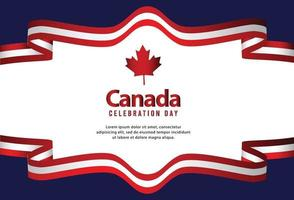 Happy independence day of canada. Vector illustration