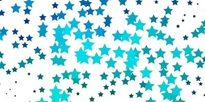 Light BLUE vector background with small and big stars.
