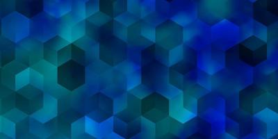 Light BLUE vector texture with colorful hexagons.