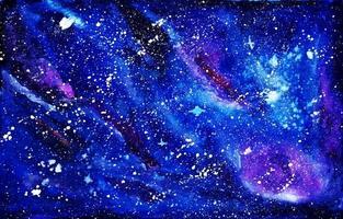 Galaxy Watercolor Painting vector