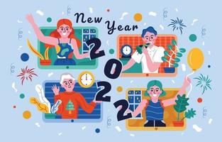 Happy New Year 2022 Background Template vector