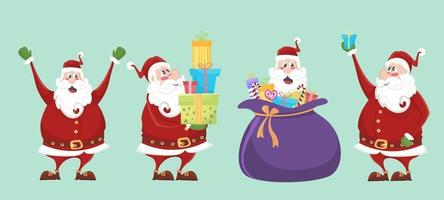 Santa Claus Character Set vector