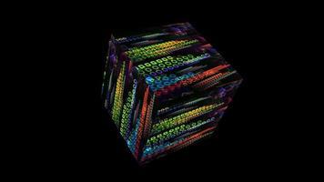 Quantum computer core futuristic technology digital holographic video