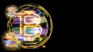 bitcoin ordinateur quantique technologie futuriste numérique holographique video