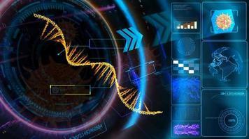 mrna en tecnología de inversor de computadora cuántica holográfica digital video