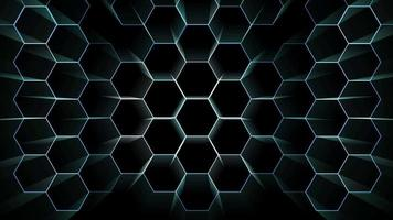 digital hexagon wire protection light burst moving to change position video