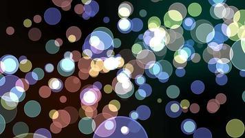 Colorful pastel light bubble divine dimension blur video