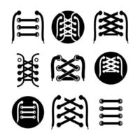 vector graphic illustration of Lace Shoes Icon. laces logo inspiration