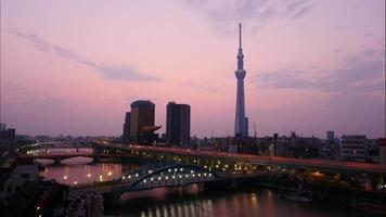 Beautiful Tokyo sky tree around with other building in Tokyo Japan video