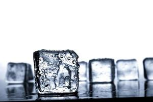 Ice cubes with water drop photo