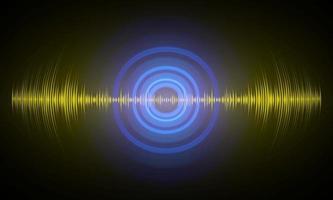 Sound waves oscillating dark light vector