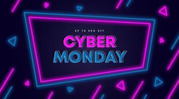 Cyber monday sale web banner background illustration vector