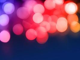 Luz bokeh abstracta para vacaciones de luz de noche de Navidad para el fondo foto