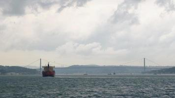 Red Vessel and The Bosphorus Bridge or The 15 July Martyrs Bridge video