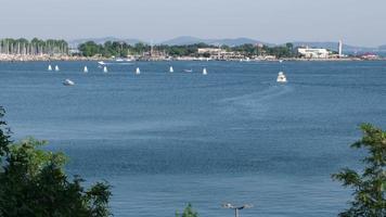 Optimist sailing training at The Bay of Kalamis at Istanbul Kadikoy video