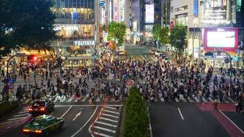 Time lapse of Shibuya area in Japan video