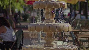 Water Pool Water On The Marble Floor video