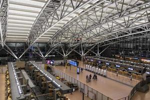 Hamburgo, Alemania- aeropuerto vista desde arriba foto