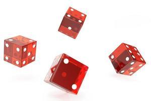 dados de casino rojo foto