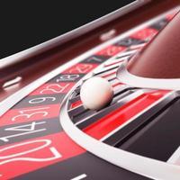 hacer la ruleta del casino de cerca. foto