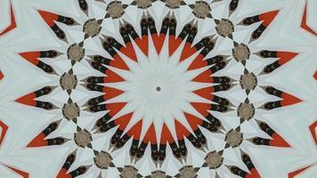 Fondo de sueño circular fractal. imágenes de meditación 4k. video
