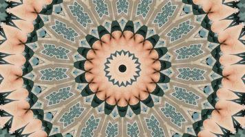 Floral abstract background. Kaleidoscope pattern, whimsical explosion. video