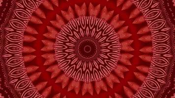 fondo rojo del modelo abstracto. 4k textura fractal de energía geométrica. video