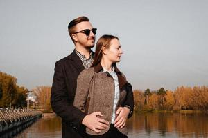 Young and elegant couple in love photo