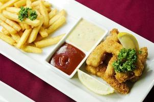 fish and chips classic british food photo