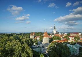 tallinn old town in estonia photo