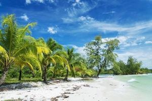 koh rong island beach in cambodia photo