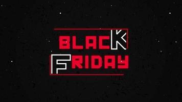Black friiday promo text animation video