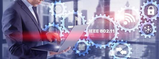 802.11. Wireless data transmission concept IEEE photo