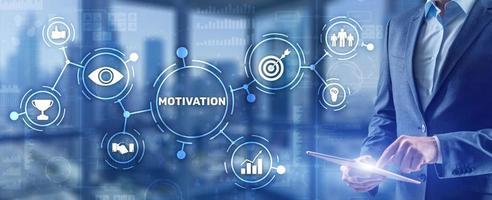 Motivation personality development concept. Achieving any goals photo